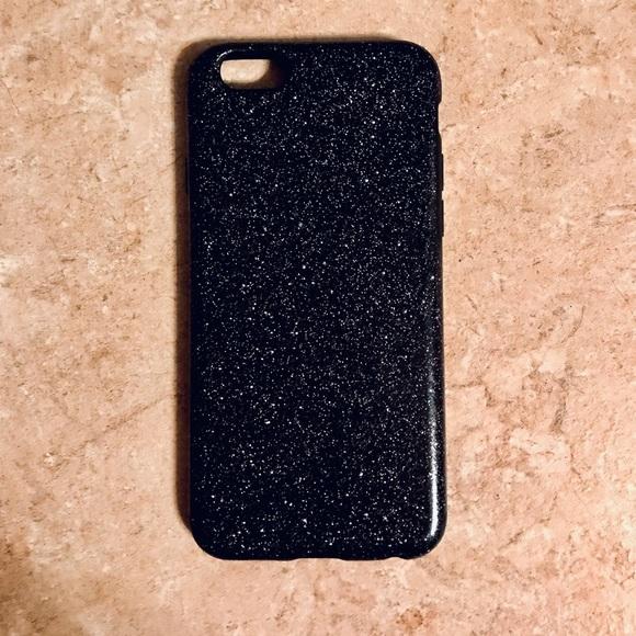 half off 141ba d9c2c Black Glitter iPhone 6/6S/7/7S Case